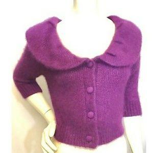 NWOT MNG Suit • Purple Sweater Shrug S/M